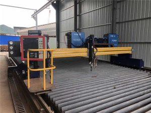 otomatis mesin pemotong plasma cnc mengemudi ganda 4m rentang 15m rel