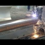 CNC 3 sumbu plasma api pipa tabung putar mesin pemotong baja