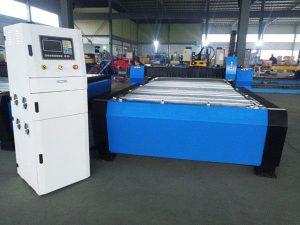 Cina cnc plasma mesin pemotong hyper 125a lembaran logam tebal 65a 85a 200a opsional jbt-1530