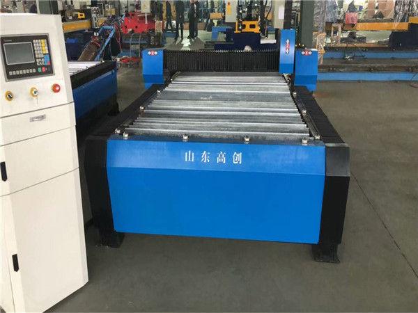 Cina Huayuan 100A Plasma Cutting CNC Mesin 10mm Plat Logam