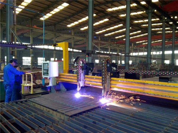 Gantry plate CNC plasma beveling mesin pemotong 45 derajat