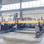 Jenis Gantry cerdas cnc pelat logam mesin pemotong otomatis plasma dan mesin pemotong api