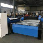 besar 2000 * 6000mm cnc lembaran logam pipa plasma cutting mesin bor