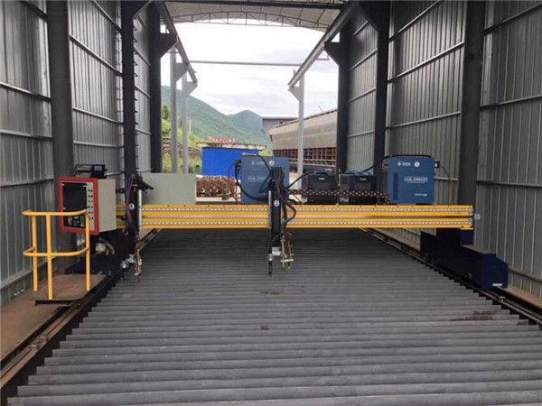 Mesin Pemotong Plasma Presisi CNC 13000mm Akurat Dengan Motor Servo