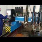 tugas berat gantry cnc mesin pemotong plasma fabrikasi logam otomatis