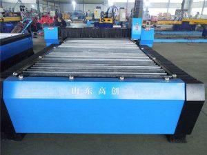 cnc plasma cutting pelat logam mesin kecil untuk menghasilkan uang / mesin pemotong plasma cnc